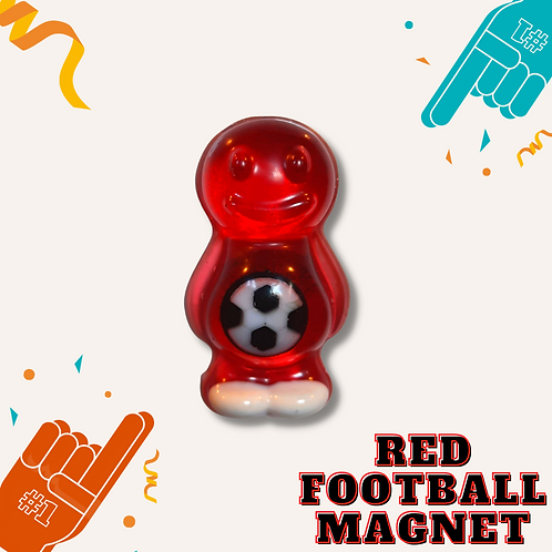 Football Red Jelly Baby Magnet