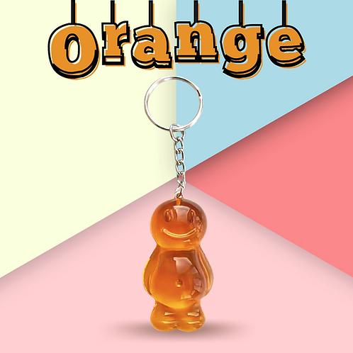 Orange Jelly Baby Keyring