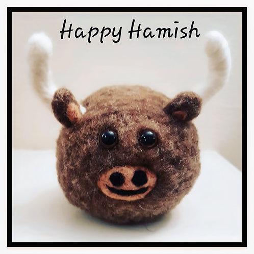 Needle Felting - Happy Hamish