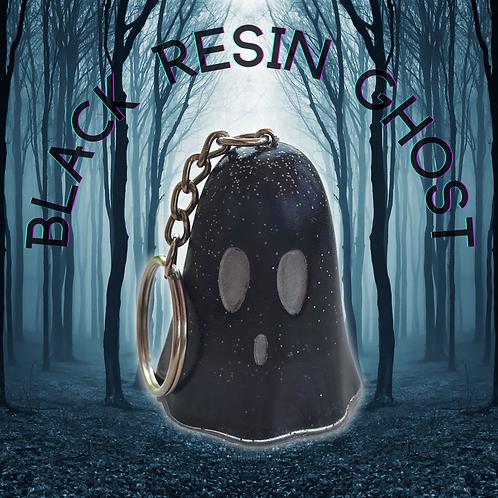 Black Resin Ghost Ornament