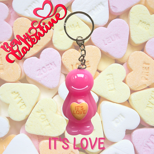 It's Love Jelly Baby Keyring