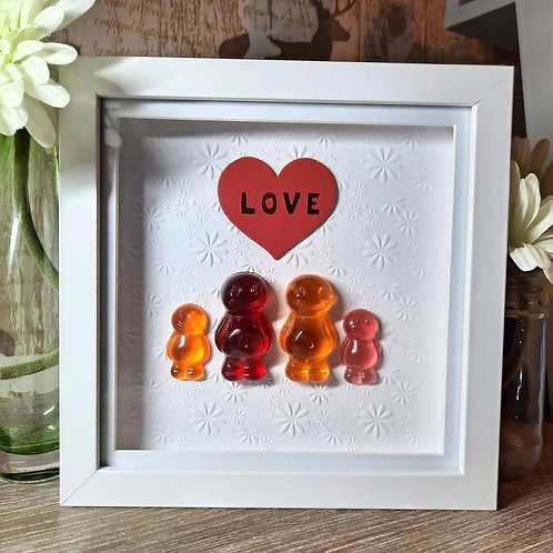 Love Jelly Baby Picture (19x19cm)