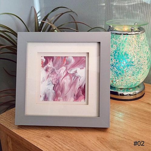 Framed Fluid Art Collection (18x18cm)