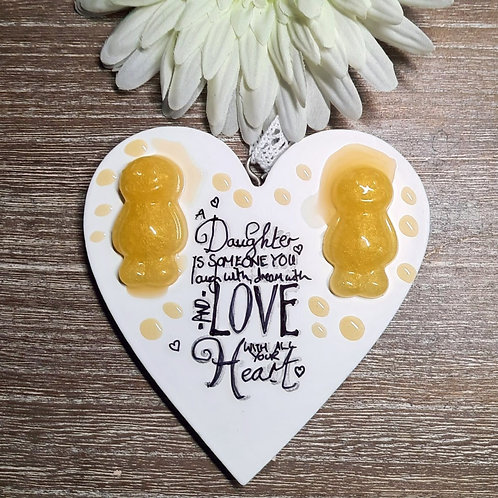 A Daughter Is... Jelly Baby Heart Wooden Plaque
