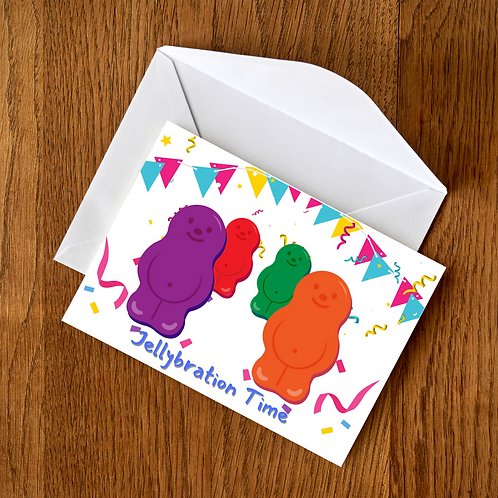 Jellybration Time  Card