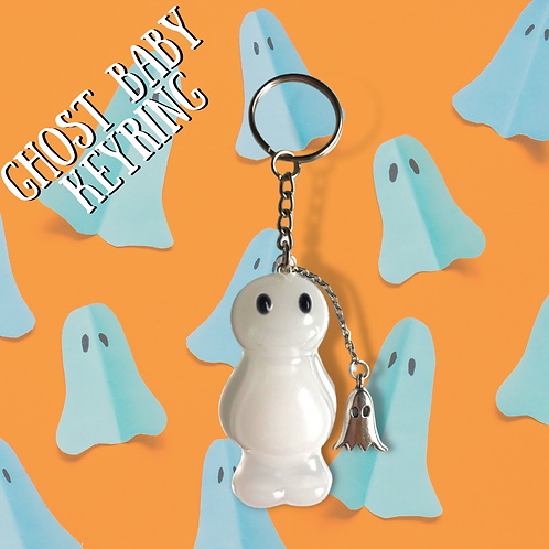 Ghost Baby Jelly Baby Keyring