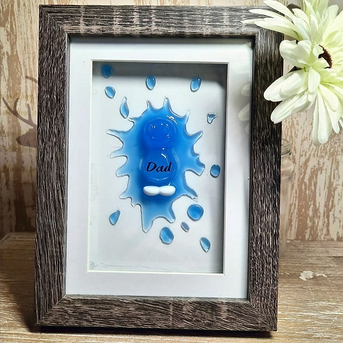 Dad Blue Jelly Baby Picture (15.5x20cm)