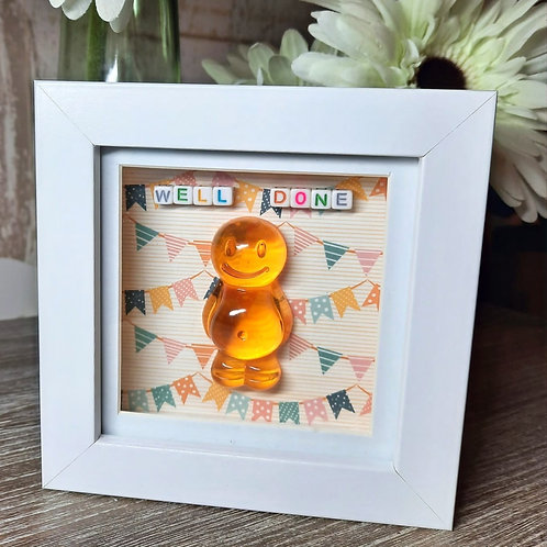 Well Done Jelly Baby Picture (12x12cm)