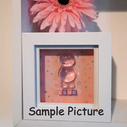 Personalise Your Framed Jelly Baby Picture Collection (12x12cm)