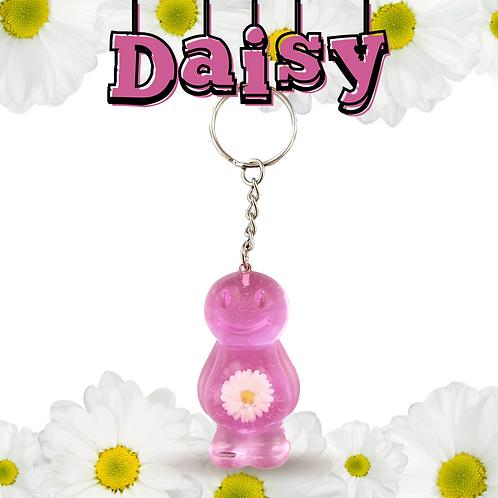 Daisy Dark Pink Jelly Baby Keyrings