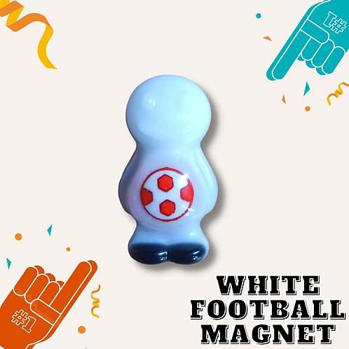 Football White Jelly Baby Magnet