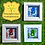 Thumbnail: Personalised Football Jelly Baby Picture (10x10cm)