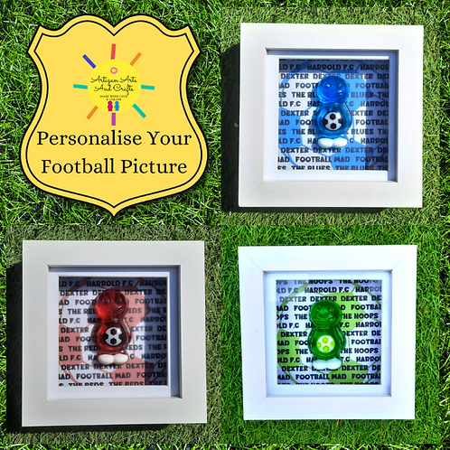 Personalised Football Jelly Baby Picture (10x10cm)