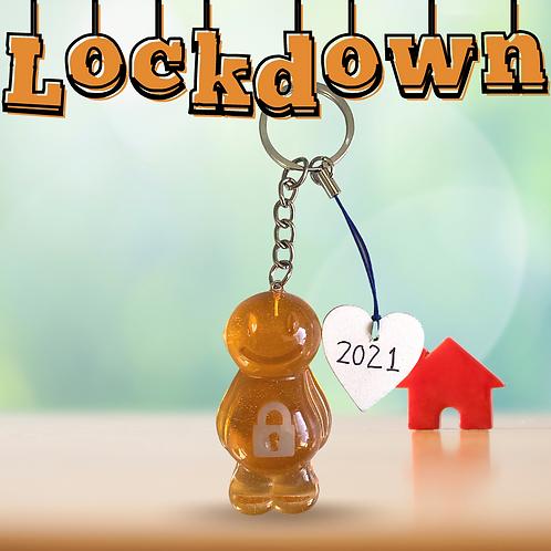Lockdown Orange Jelly Baby Keyrings