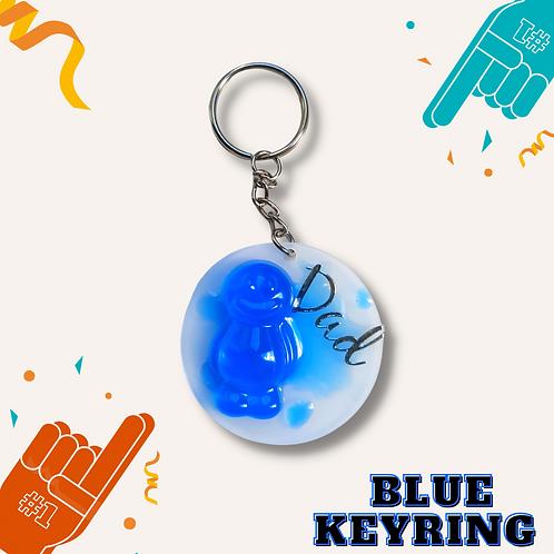 Circle Blue Jelly Baby Keyring