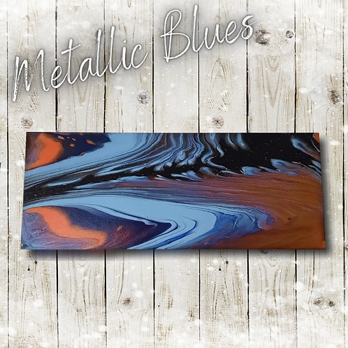 Metallic Blues (20x50cm)