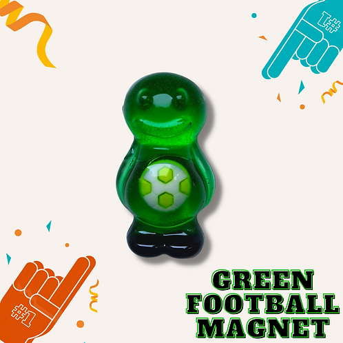 Football Green Jelly Baby Magnet