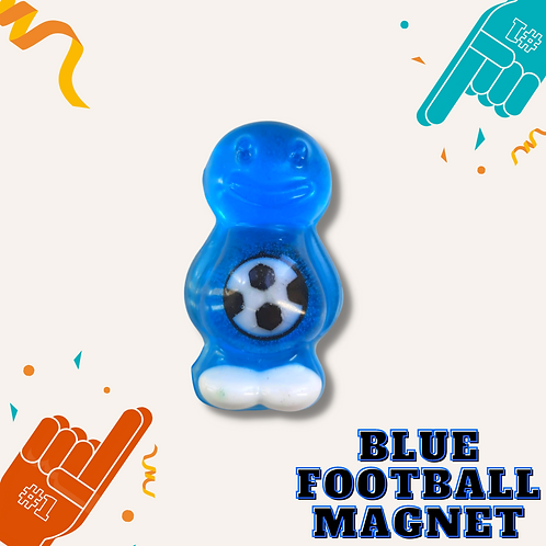 Football Blue Jelly Baby Magnet