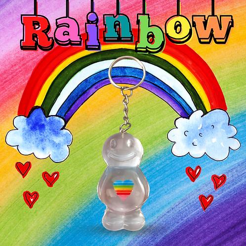 Rainbow Baby Jelly Baby Keyring