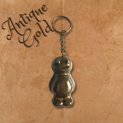 Antique Gold Jelly Baby Keyring