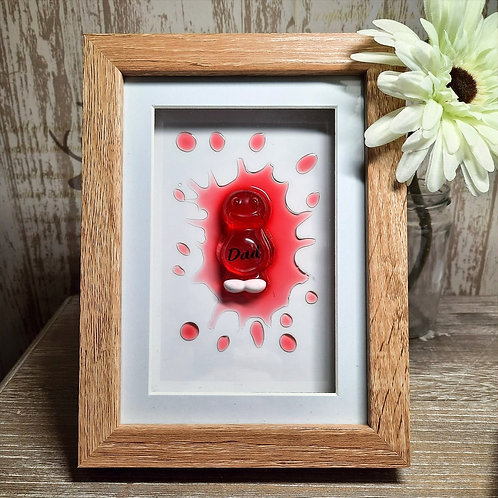Dad Red Jelly Baby Picture (15.5x20cm)