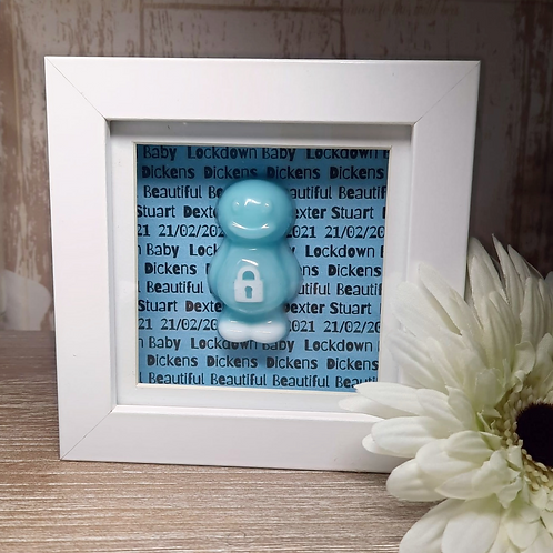 Personalised Lockdown Baby Boy Jelly Baby Picture (10x10cm)