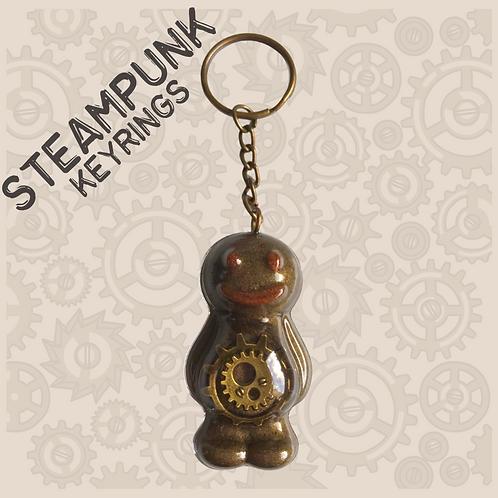 Steampunk Jelly Baby Keyring