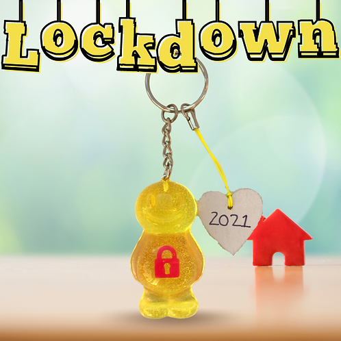 Lockdown Yellow Jelly Baby Keyrings