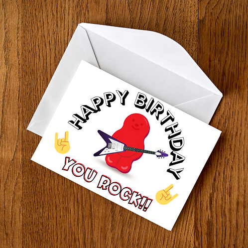 Happy Birthday - You Rock Card