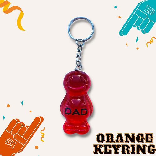 Dad Orange Jelly Baby Keyring