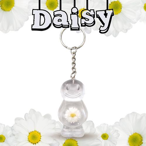Daisy Clear Jelly Baby Keyrings