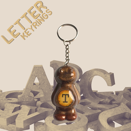 Letter 'T' Jelly Baby Keyring