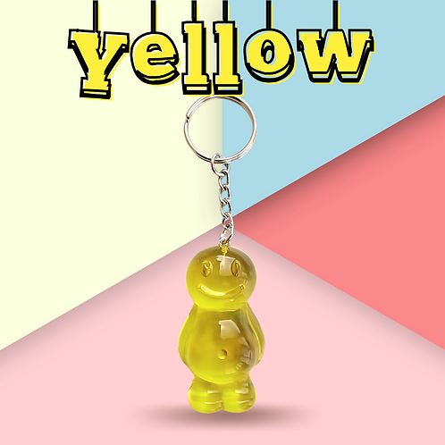 Yellow Jelly Baby Keyring