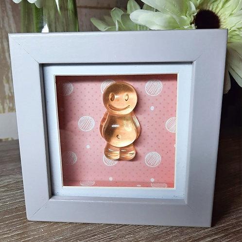 Peach Jelly Baby With A Peach Background (12x12cm)