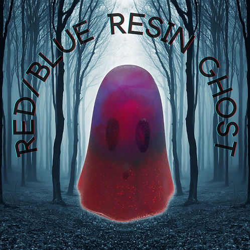 Red/Blue Resin Ghost Ornament