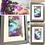 Thumbnail: Hills Of Heather Framed Fluid Art Set (28x15cm)
