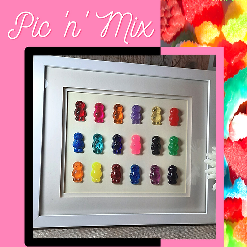 Pic 'n' Mix Jelly Baby Picture (35x30cm)