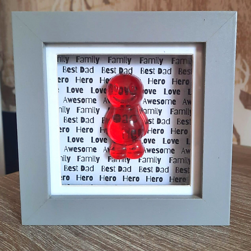 Dad Red Jelly Baby Picture (10x10cm)