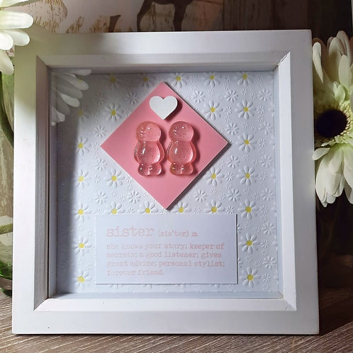 Sister Jelly Baby Picture (19x19cm)
