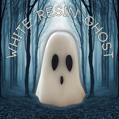White Resin Ghost Ornament