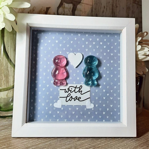 With Love Jelly Baby Picture (19x19cm)