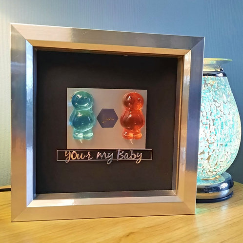 Your My Baby Jelly Baby Picture (20x20cm)