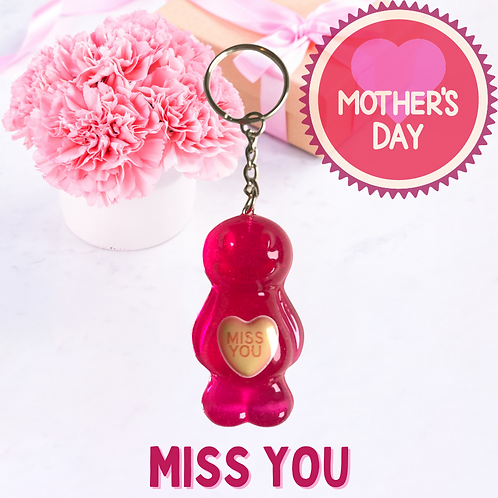 Miss You Jelly Baby Keyring