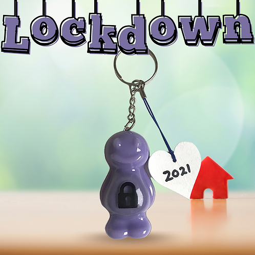 Lockdown Mauve Jelly Baby Keyrings