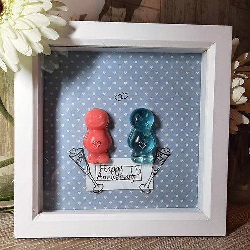 Happy Anniversary Jelly Baby Picture (19x19cm)