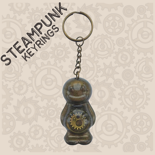 Steampunk Jelly Baby Keyring
