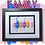 Thumbnail: Family Jelly Baby Picture (28x22cm)
