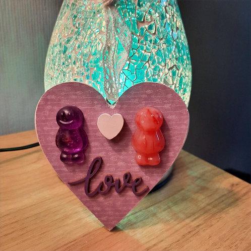 Love Heart Wooden Plaque