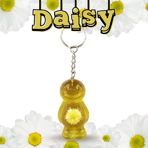 Daisy Yellow Jelly Baby Keyrings