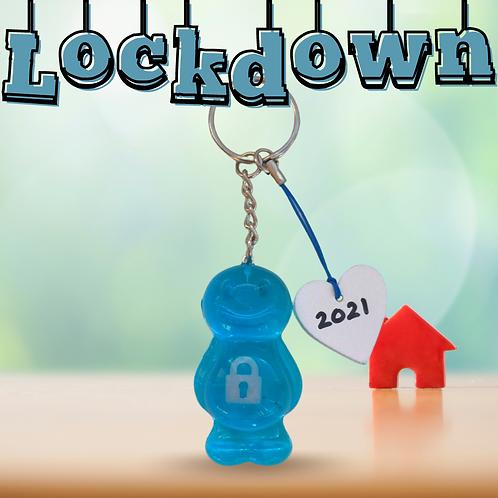 Lockdown Blue Jelly Baby Keyrings